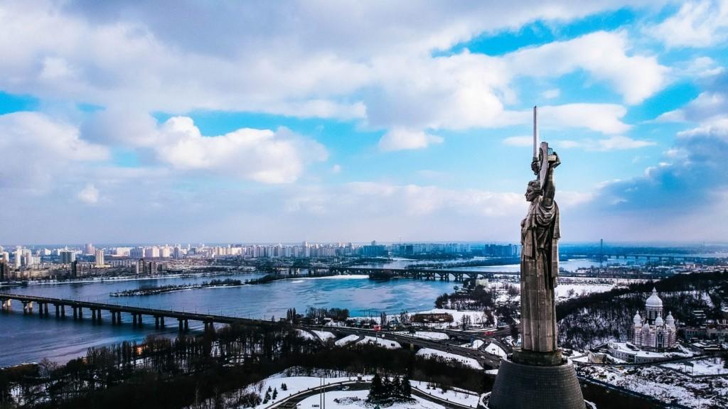 """Die ukrainische Hauptstadt Kyiw - Schauplatz der """"Revolution der Würde"""" auf dem Maidan. Der Kampf der Ukraine um Demokratie und Unabhängigkeit vom russischen Neoimperialismus geht weiter."""